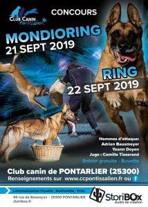 Concours Ring 21 et 22 Septembre 2019 @ Club Canin Pontissalien